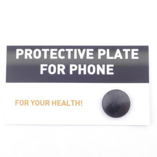 02201 POLISHED 22 MM RUSSIAN SHUNGITE DISC FOR PROTECTION FROM MOBILES