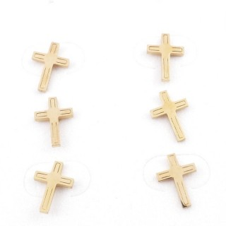 31203-65 PACK OF 3 PAIRS OF STAINLESS STEEL POST EARRINGS IN GOLD COLOUR