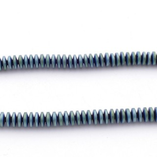 42642-14 40 CM STRING OF 4.5 MM DIAMETER HEMATITE DISC BEADS