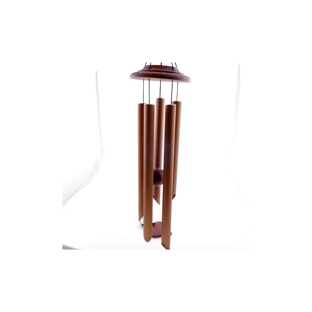 37590 METAL AND WOOD APROX. 80 CM LONG WIND CHIME