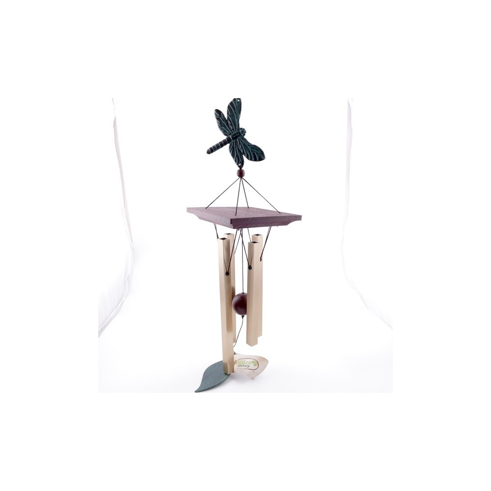 37591 METAL AND WOOD APROX. 60 CM LONG WIND CHIME