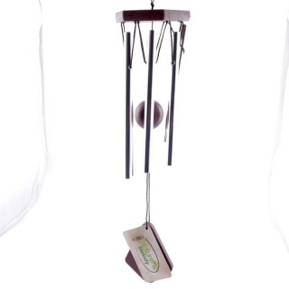 37589 METAL AND WOOD APROX. 40 CM LONG WIND CHIME