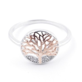 59024-17 TREE OF LIFE SIZE 17 RHODIUM PLATED SILVER WITH CUBIC ZIRCONIA RING