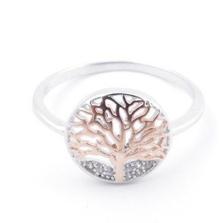 59024-18 TREE OF LIFE SIZE 18 RHODIUM PLATED SILVER WITH CUBIC ZIRCONIA RING