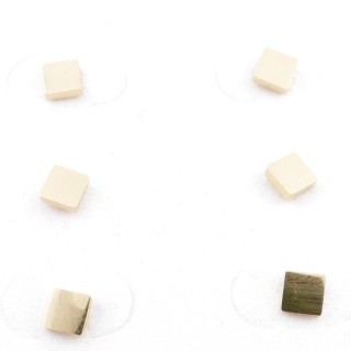 31203-77 PACK OF 3 PAIRS OF GOLD COLOURED STAINLESS STEEL POST EARRINGS
