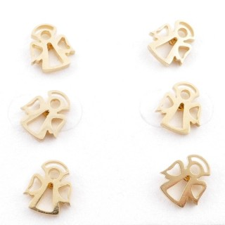 31203-84 PACK OF 3 PAIRS OF GOLD COLOURED STAINLESS STEEL POST EARRINGS