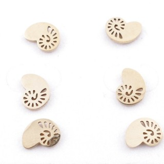 31203-92 PACK OF 3 PAIRS OF GOLD COLOURED STAINLESS STEEL POST EARRINGS