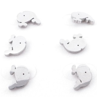 49619-06 PACK OF 3 PAIRS OF SILVER COLOURED STAINLESS STEEL EARRINGS