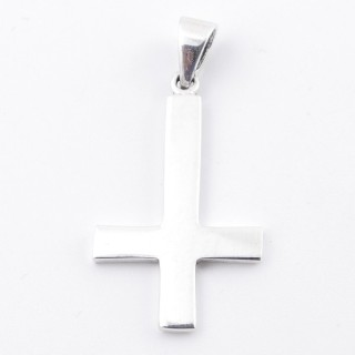 50275 STERLING SILVER 35 X 21 MM IN SHAPE OF INVERTED CROSS