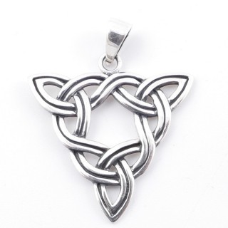 50273 STERLING SILVER 33 X 32 MM IN SHAPE OF TRIANGLE WITH TRIQUETRAS