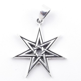 50276 STERLING SILVER 30 X 26 MM IN SHAPE OF 7 POINTED STAR