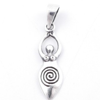 50281 STERLING SILVER 29 X 8 MM PENDANT WITH GODDESS DESIGN