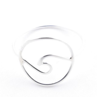 52203-19 STERING SILVER 15 MM WIDE RING. SIZE 19