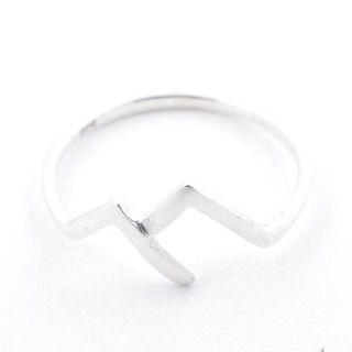 52184-17 STERING SILVER 8 MM WIDE RING. SIZE 17
