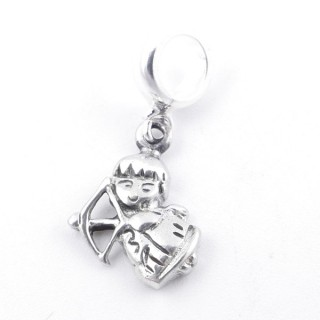 51284 CUPID SHAPED STERLING SILVER 15 X 10 MM BRACELET CHARM