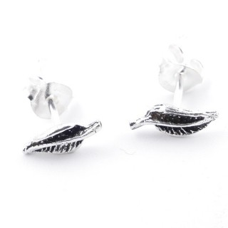52039-65 STERLING SILVER 8 X 3 MM EARRINGS IN SHAPE OF LEAF