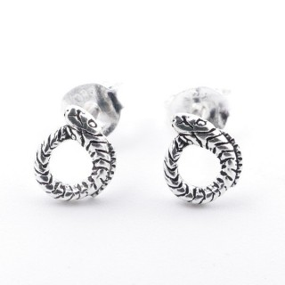 52039-69 STERLING SILVER 7 X 5 MM EARRINGS IN SHAPE OF SNAKE