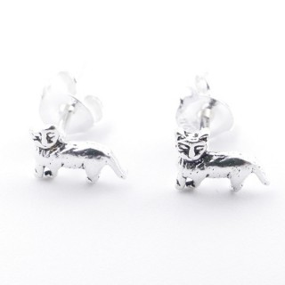 52039-49 STERLING SILVER 5 X 6 MM EARRINGS IN SHAPE OF CAT