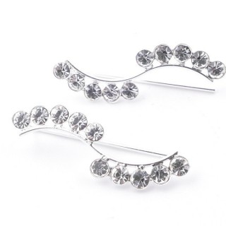 5214241 STERLING SILVER CLIMBER DESIGN EARRINGS 10 X 26 MM