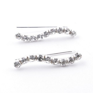 5214244 STERLING SILVER CLIMBER DESIGN EARRINGS 4 X 18 MM