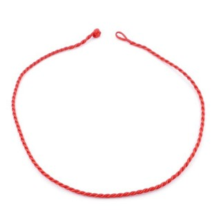 49502-02 PACK OF 6 PCS RED 45 CM LONG 3 MM WIDE CORD NECKLACE