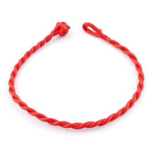 49501 PACK OF 10 RED 19 CM LONG 3 MM THICK CORD BRACELETS