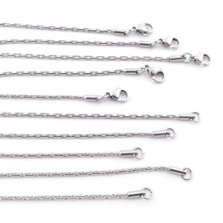 38801 PACK OF 5 STAINLESS STEEL 45 CM X 2 MM CHAINS