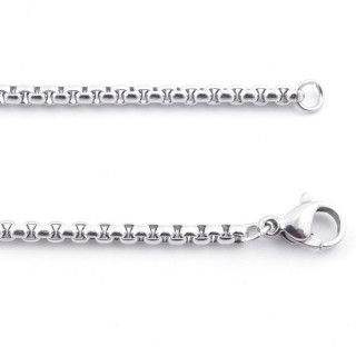 38847 STAINLESS STEEL 50 CM LONG 2,5 MM THICK CHAIN