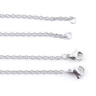 38855 PACK OF 10 STAINLESS STEEL 45 CM X 2,3 MM CHAINS