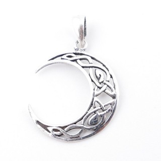 55511 STERLING 925 SILVER PENDANT IN MOON SHAPE 18 MM
