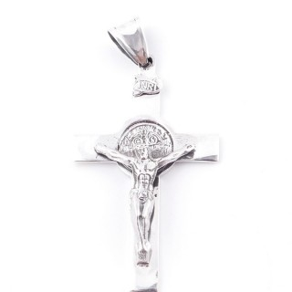 55506 STERLING 925 SILVER PENDANT IN CHRIST CROSS 56 X 33 MM