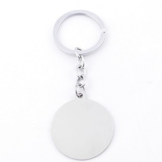 38339-04 STAINLESS STEEL KEYCHAIN IDEAL FOR ENGRAVING 35 MM