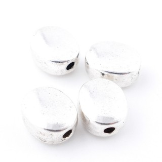 35555-05 PACK OF 10 OVAL SHAPED 12 X 10 X 6 MM BEADS WITH 2 MM HOLE