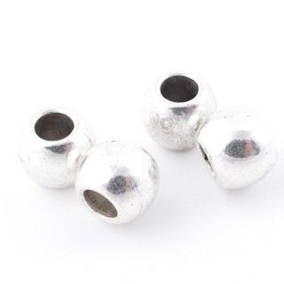 35555-08 PACK OF 12 METAL 10 MM BEADS WITH 4 MM HOLE