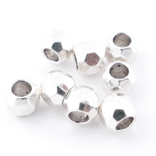35555-33 PACK OF 20 FACETED 8 MM METAL BEADS WITH 4 MM HOLE