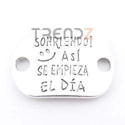 35557-02 PAQUETE DE 5 CHAPAS DE METAL CON MENSAJE 20 X 30 MM