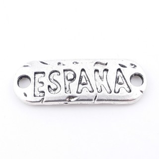 35557-27 PACK OF 5 METAL CHARMS WITH ENGRAVING 12 X 35 MM