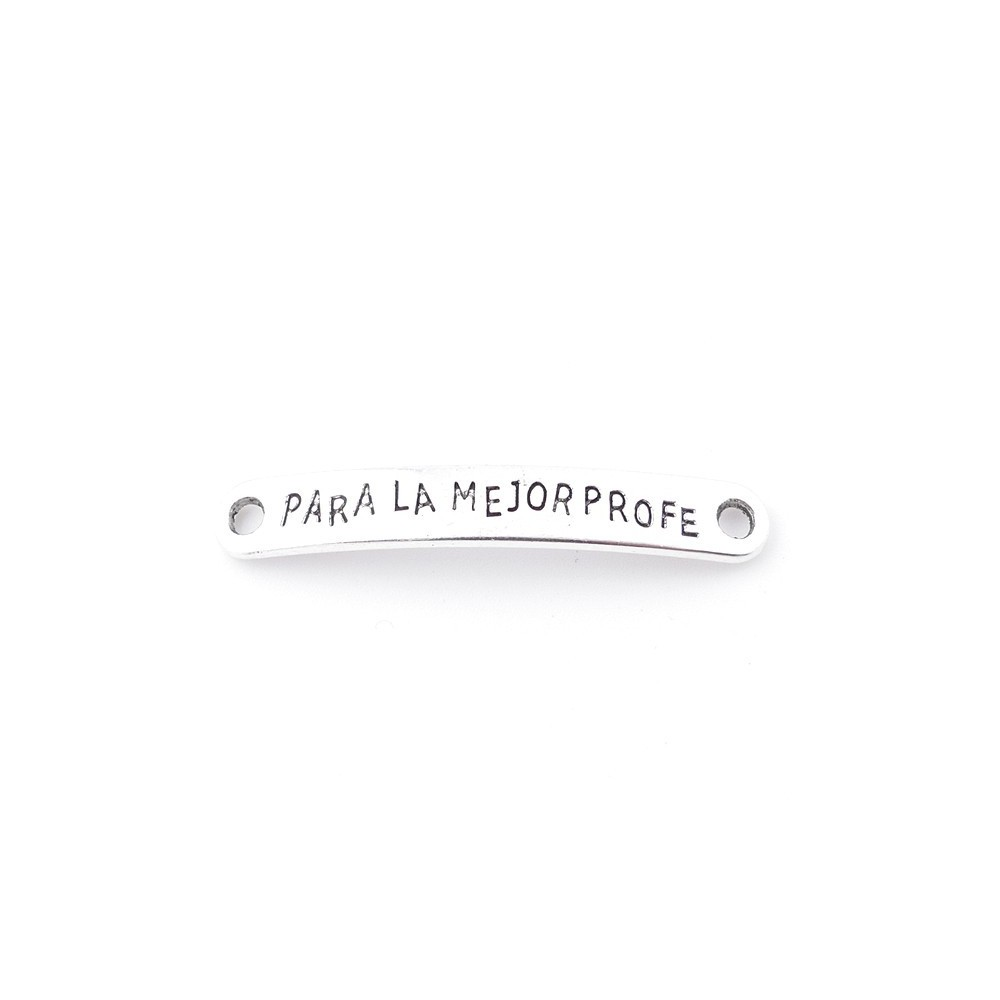 35558-09 PACK OF 7 METAL CHARMS WITH ENGRAVING 7 X 44 MM