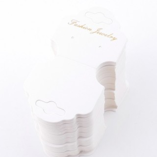 49348 PACK OF 100 CARDS FOR JEWELLERY 5,2 X 10,5 CM