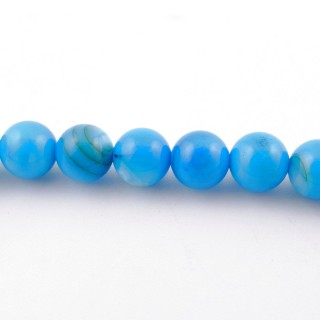 42583 40 CM LONG STRING OF BICONE SHAPED 6 X 12 MM HEMATITE BEADS