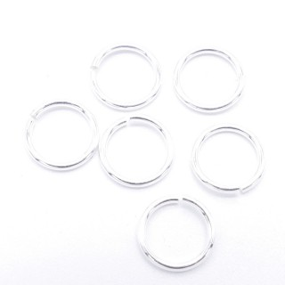 60057 PACK OF 25 OPEN STERLING SILVER 8 X 0.9 MM JUMP RINGS
