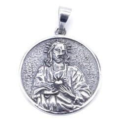 50366 COLGANTE DE PLATA DE LEY DE JESUS CRISTO DE 27 MM