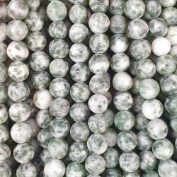 44404 TIRA DE 40 CM DE CUENTAS DE 6 MM EN GREEN SPOT JADE