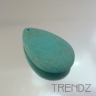 19744-2 SYNTHETIC TURQUOISE TEARDROP 55 X 35 MM PENDANT