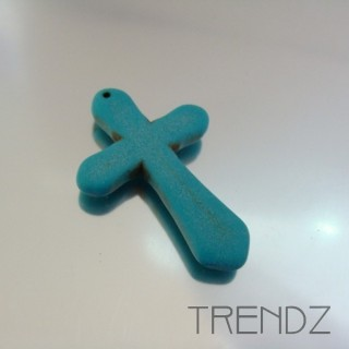 19744-1 CROSS SHAPED 45 X 30 MM TUQUENITE PENDANT